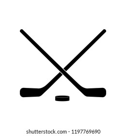 Hockey icon, logo on white background