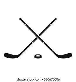 Hockey icon. Simple illustration of hockey vector icon for web