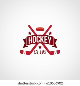 hockey logo design vector.