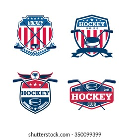 hockey logo set,sport identity,team,tournament.