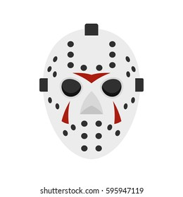 Hockey mask icon in flat style isolated on white background vector illustration