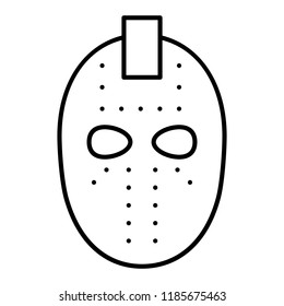 Icon Hockey Goalie Mask Stock Vectors Images Vector Art