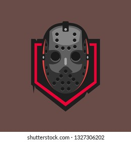 Hockey mask vector logo template