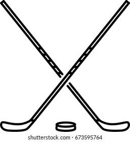 hockey outline icon