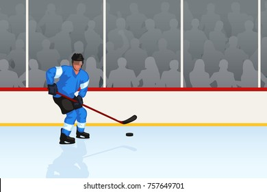 hockey player in rink