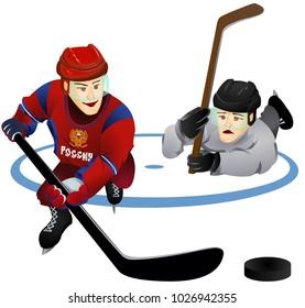 Hockey players (vector character)