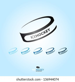 Hockey puck - abstract Vector logotype - various type