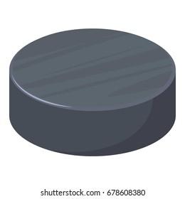 Hockey puck icon. Cartoon illustration of hockey puck vector icon for web