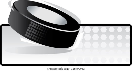 Hockey Puck in motion