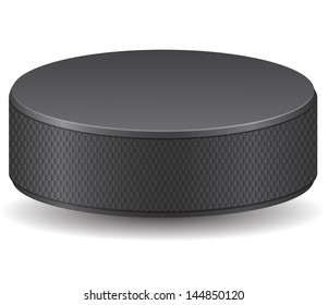 hockey puck vector illustration isolated on white background