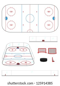 Hockey Rink with Sections and Perspective
