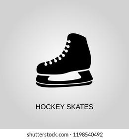 Hockey skates icon. Hockey skates symbol. Flat design. Stock - Vector illustration.