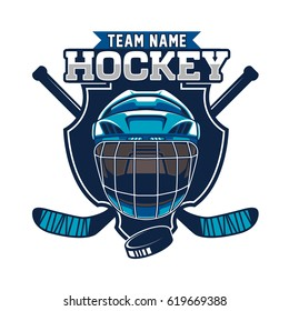 Hockey sport team logotype template