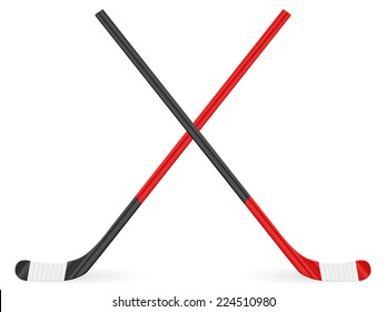 Hockey stick on a white background.