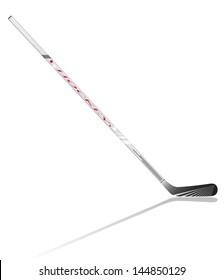 hockey stick vector illustration isolated on white background