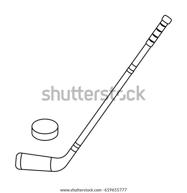 Hockey Stick Washer Canada Single Icon Stock Vector Royalty Free