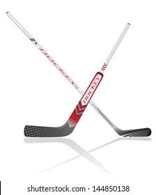 hockey sticks vector illustration isolated on white background