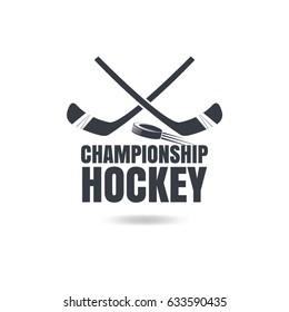 Hockey sticks and washer icon