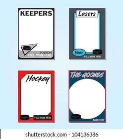 Hockey Trading Card Frames