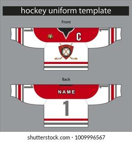 hockey uniform template