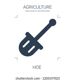 hoe icon. high quality filled hoe icon on white background. from agriculture collection flat trendy vector hoe symbol. use for web and mobile