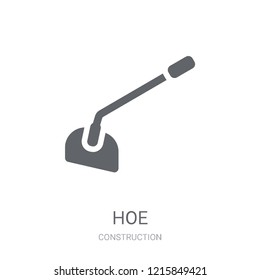 Hoe icon. Trendy Hoe logo concept on white background from Construction collection. Suitable for use on web apps, mobile apps and print media.
