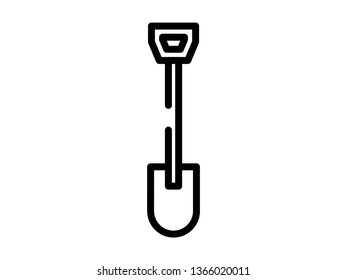 hoe line icon. Element of hoe icon for mobile concept and web apps. Thin line hoe icon can be used for web and mobile - Vector