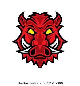 Hog head vector, pig head logo, hog mascot, pig character