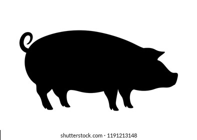 Hog vector icon isolated on white background