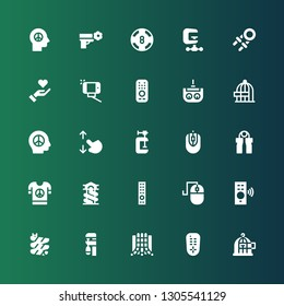 hold icon set. Collection of 25 filled hold icons included Freedom, Remote control, Slide, Clamp, Computer mouse, Peace, Grip, Touch screen, Remote, Selfie, Give love, Hand grip