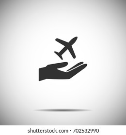 holding hands icon vector,Plane