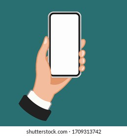 holding the phone as vector