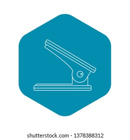 Hole puncher icon. Outline illustration of hole puncher vector icon for web