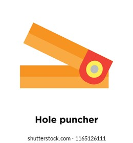 Hole puncher icon vector isolated on white background, Hole puncher transparent sign , colorful equipment symbols