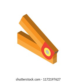 Hole puncher isometric left top view 3D icon