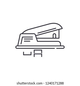 Hole puncher line icon concept. Hole puncher vector linear illustration, symbol, sign