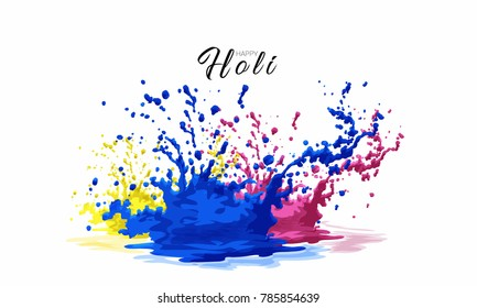 Holi abstract colorful background