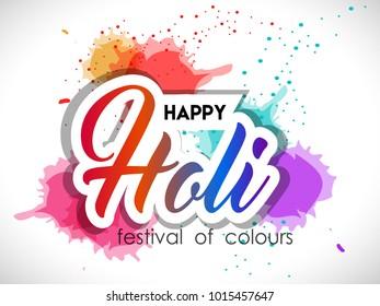 Holi colorful background , Happy holi elements