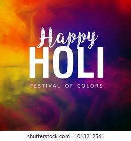 Holi Design, Vector Illustration.