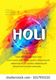Holi,Creative Flyer, Banner design for Indian Festival of Colours, Holi celebration