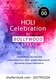 Holi,Creative Flyer, Banner design for Indian Festival of Colours, Holi celebration