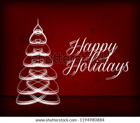 Holiday Background Christmas Greeting Card Template Stock Vector
