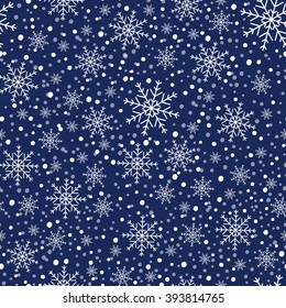 Snowflakes Template | Seamless Blue Winter Pattern Snowflakes Vector Stock Vector Royalty