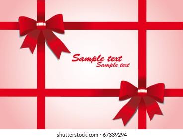 Holiday bow and ribbon, illustration