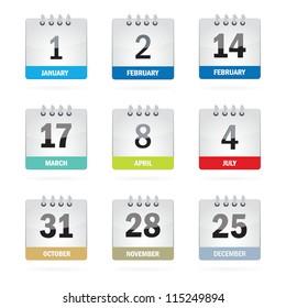 Holiday Calendar Set