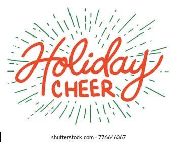 Holiday Cheer Decorative Christmas Card