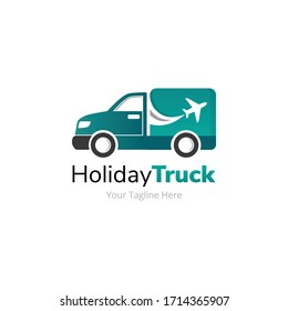Holiday Flight Delivery Truck Logo Design