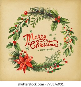 Holiday Greeting Cards, retro style