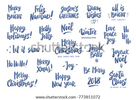 Holiday Greeting Quotes Wishes Isolated On Stock Vector (Royalty ...