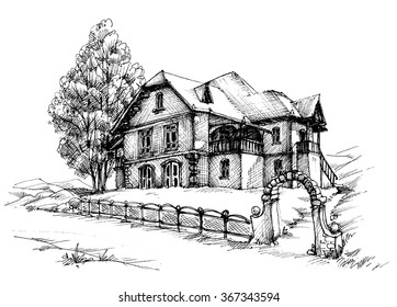 Holiday house sketch